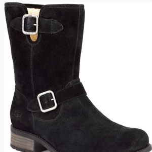UGG Channey black suede,mid calf